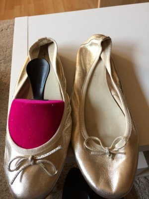Tamaris Shoes gold-colored leather