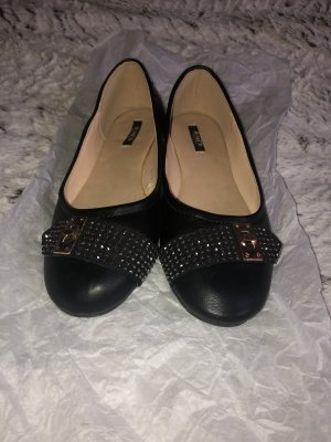 Jumex Ballerinas black-gold-colored