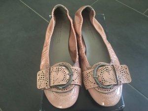 Kennel und Schmenger Ballerina di pelle verniciata rosa Pelle