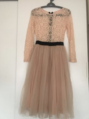 Rare london Midi Dress rose-gold-coloured