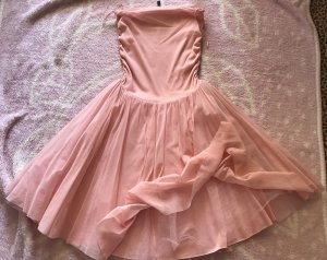 H&M Abito senza spalle rosa chiaro