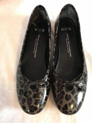 Ballerina Leopardenmuster mit Schleife