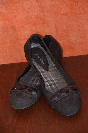 Ballerinas black imitation leather