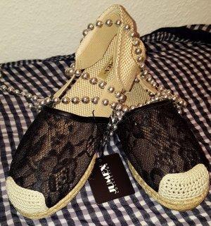 Ballerina Low Sneaker Espadrillo Schuhe Sandalen Damen BRAND NEU Schwarz 38