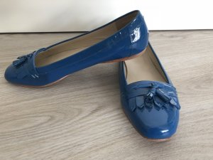 Boden Patent Leather Ballerinas blue