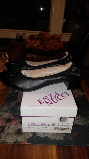 Enza Nucci Patent Leather Ballerinas black