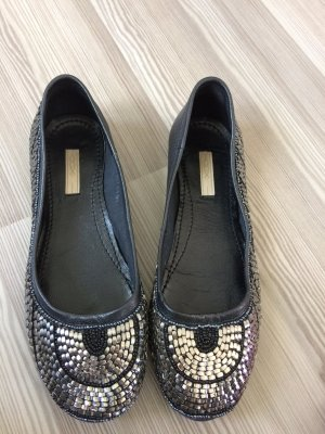 Cox Ballerinas black-silver-colored