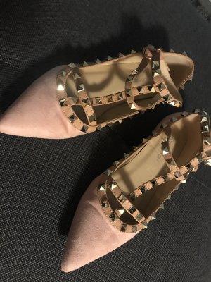 Ballerina mit Nieten - rosa - Gr 39