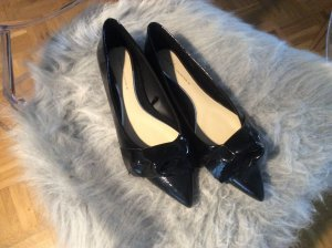 Zara Patent Leather Ballerinas black