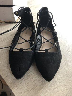 Ballerines à lacets noir