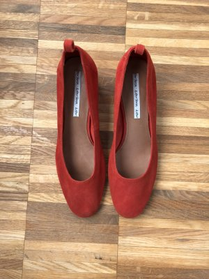 Ballerina Pumps rot Wildleder 40 &otherstories