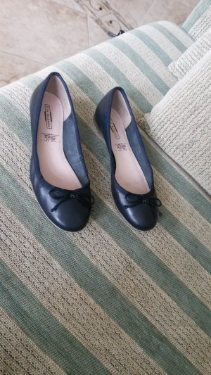 5th Avenue Ballerinas dark blue leather