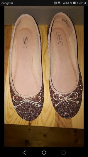 Only Ballerinas with Toecap sand brown