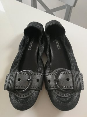 Kennel und Schmenger Slingback Ballerinas black-silver-colored