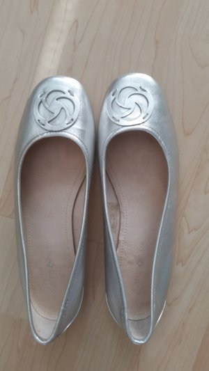 Samsonite Mary Jane ballerina's zilver Leer
