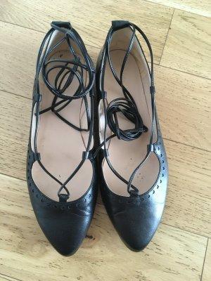 Ballerina schwarz aus Leder
