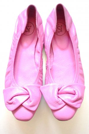 Si Barcelona Foldable Ballet Flats pink leather