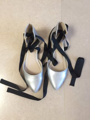Pimkie Strappy Ballerinas silver-colored-black