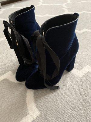 Zara Ankle Boots dark blue