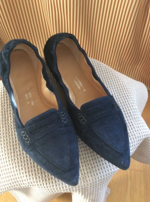 Truman's Ballerinas with Toecap dark blue