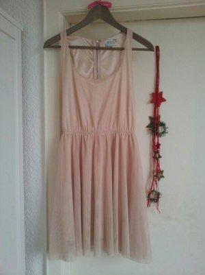 Ballerina Tüll Kleid nude Hautfarbe Bershka M