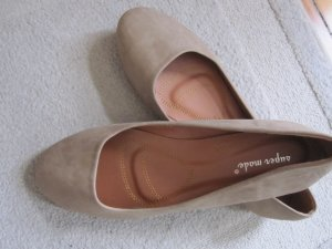 Ballerinas sand brown-beige synthetic