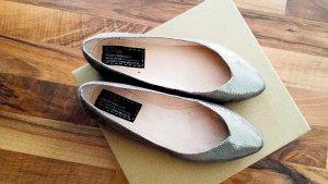 Bertie Ballerinas silver-colored-light grey leather