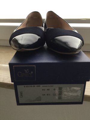 Caprice Patent Leather Ballerinas dark blue
