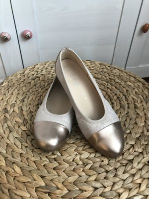 Gabor Ballerinas with Toecap bronze-colored-oatmeal imitation leather