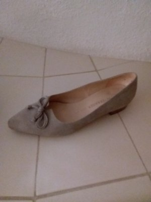 Peter Kaiser Ballerinas with Toecap white-grey brown