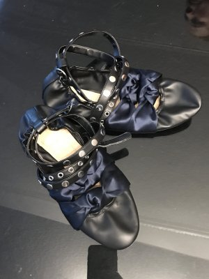 Zara Strappy Ballerinas black-dark blue