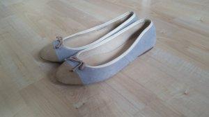 Ballerina wildleder blaugrau beige Größe 39