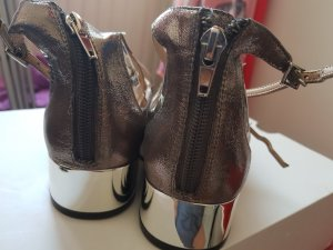 Aldo Strappy Ballerinas silver-colored-anthracite