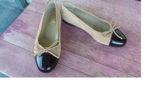 Alba Moda Ballerinas sand brown-dark brown leather