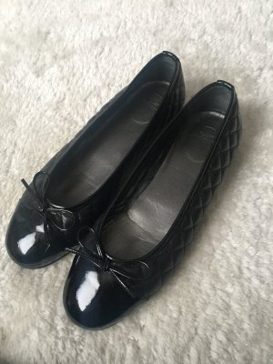 Navyboot Patent Leather Ballerinas black leather
