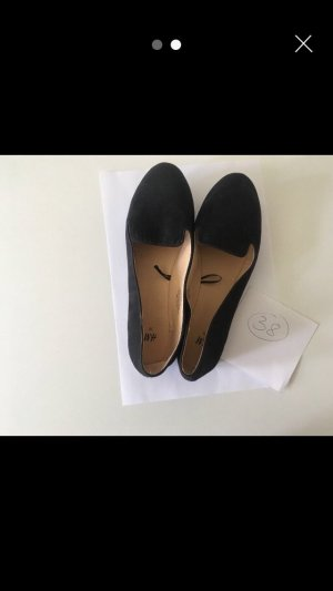 H&M Peep Toe ballerina's zwart