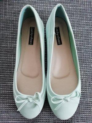 Slingback Ballerinas green