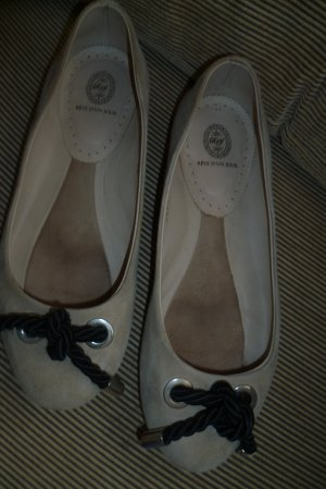 Foldable Ballet Flats sand brown leather