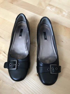 Ecco Ballerinas black leather