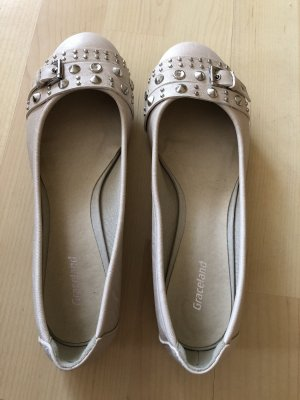 Graceland Bailarinas con tacón Mary Jane crema