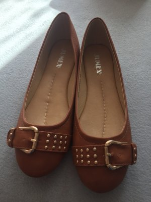 Jumex Mary Jane Ballerinas cognac-coloured