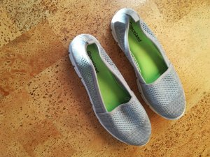Graceland Mary Jane Ballerinas silver-colored