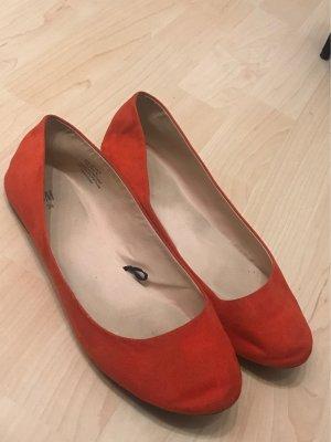 H&M Ballerina Mary Jane rosso-rosso mattone