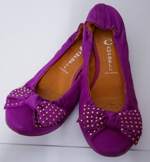 Campbell Ballerines pliables violet cuir