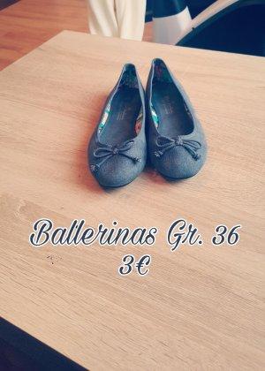 Deichmann Bailarinas azul aciano tejido mezclado