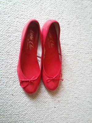 Lavorazione Artigia Patent Leather Ballerinas red