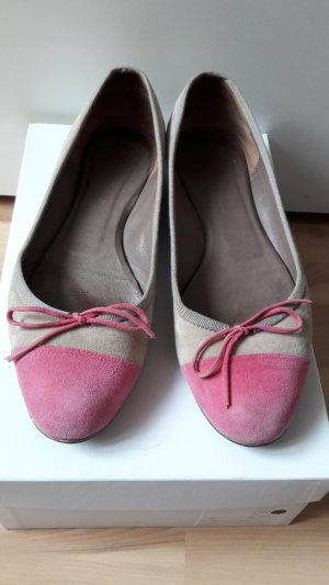 Ballerinas aus Veloursleder MADE IN ITALY