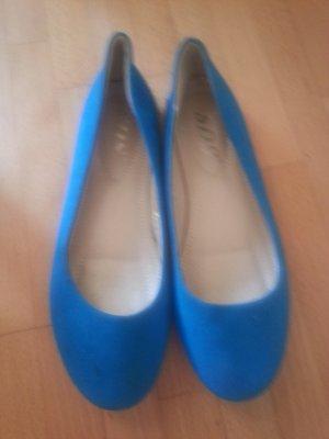 H&M Bailarinas plegables azul neón Imitación de cuero