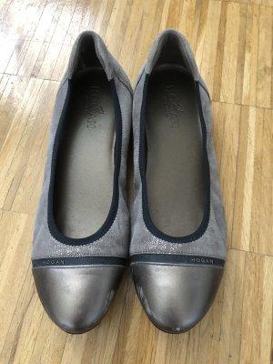 Hogan Lakleren ballerina's brons-grijs-bruin