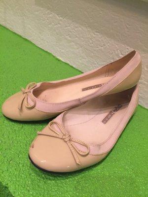 Buffalo London Patent Leather Ballerinas cream